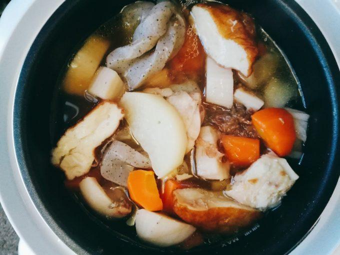 圧力式電気鍋 APC-T19(アルファックス・コイズミ)を使ったレシピ煮物