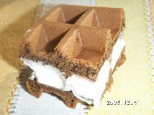 手作りチョコレートレシピ【ワッフルケーキ】
