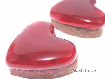 手作りチョコレートレシピ【ハートゼリー2段ケーキ(ラズベリー)】