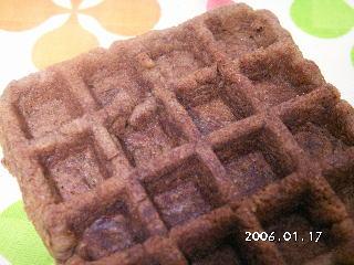 手作りチョコレートレシピ【チョコレートブラウニーワッフル】