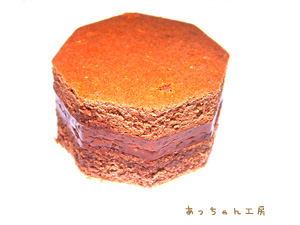 手作りチョコレートケーキレシピ【六角形のミニケーキ】