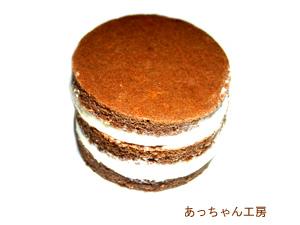 手作りチョコレートレシピ【ミニ3段スポンジケーキ】