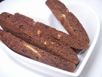 手作りチョコレートレシピ【ココアとオレンジビスコッティ】