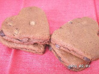 手作りチョコレートレシピ【ハート型チョコレートスコーン】