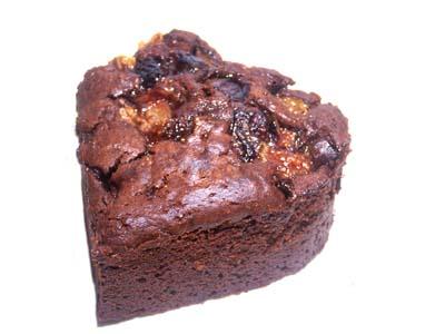 手作りチョコレートケーキレシピ【上新粉のハートのいちじくケーキ】